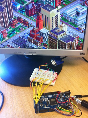 Arduino Due VGA Out Simcity Test | by gadgetoid