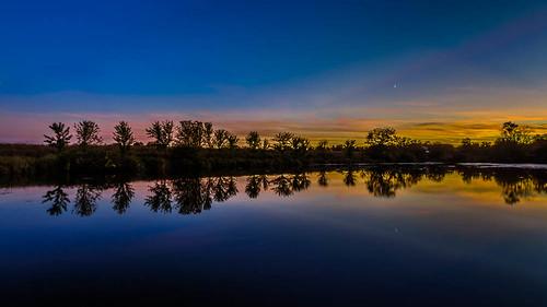 sunset wisconsin reflections unitedstates waukesha genesee