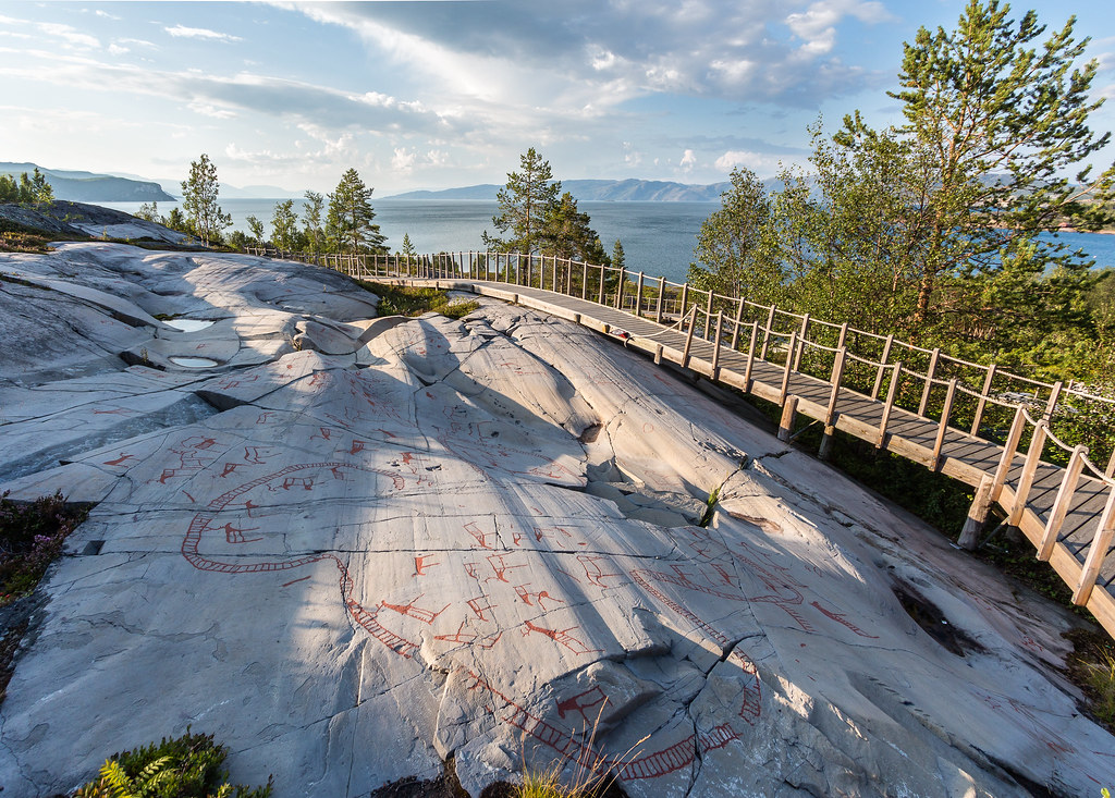 Rock carvings in alta finnmark stock photo image of municipality