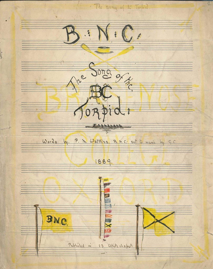The song of the Brasenose Torpid, 1889 | Brasenose Library