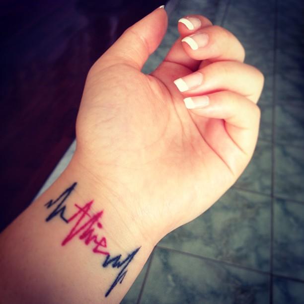 I M Alive Tattoo Ecg Frenchmanicure Wednesday Flickr