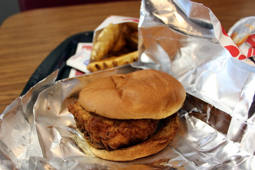 Hapeville: Chick-fil-A at Hapeville Dwarf House - Spicy Chicken Sandwich | by wallyg