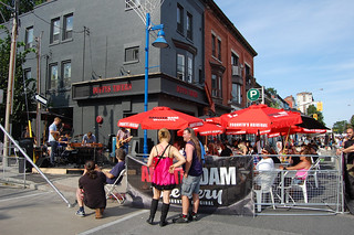 Outside Duffy's Tavern