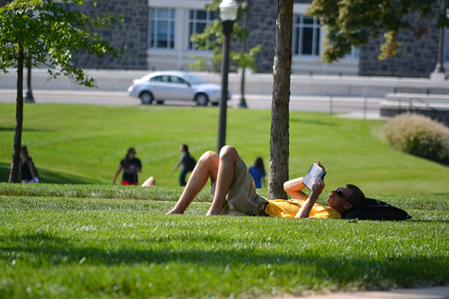 The JMU Quad is a great place to study