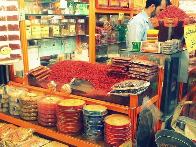 Mashhad bazar of spices