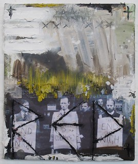 Zavier Ellis 'Repent', 2013 Oil & collage on canvas 30.5x25.5cm