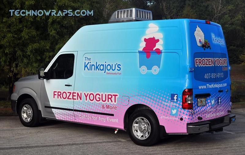 Food truck wrap in Orlando
