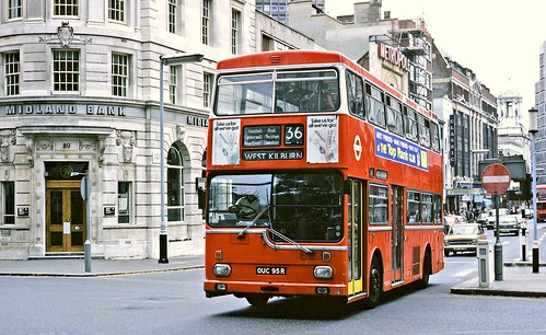London Transport: MD95 (OUC95R) from Peckham Garage in Victoria Street on Route 36