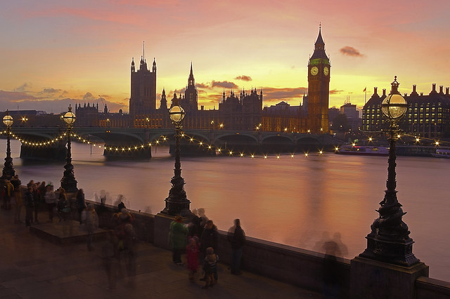 Tramonto stellato / Starry sunset (Explore!!!) (Buon Natale!!! / Merry Christmas!!!) (Westminster, London, England)