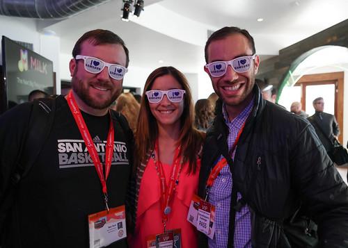 Ben, Deya and Nan at the SXSW Samsung Galaxy Experience | by nan palmero