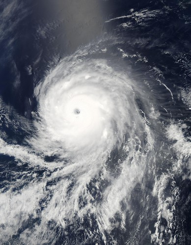Satellite image of a hurricane | by State Farm