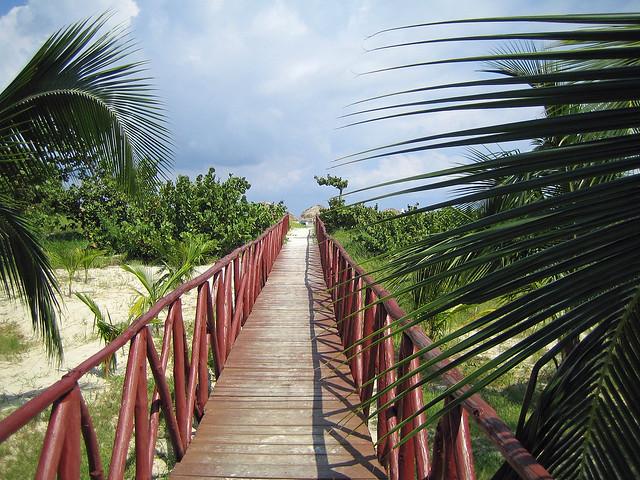 Footbridge to the beach - Varadero, Cuba
