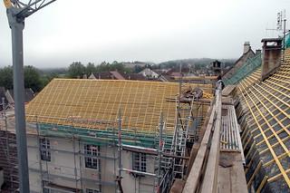 Rénovation de la charpente de l'hôtel Babey à Orgelet