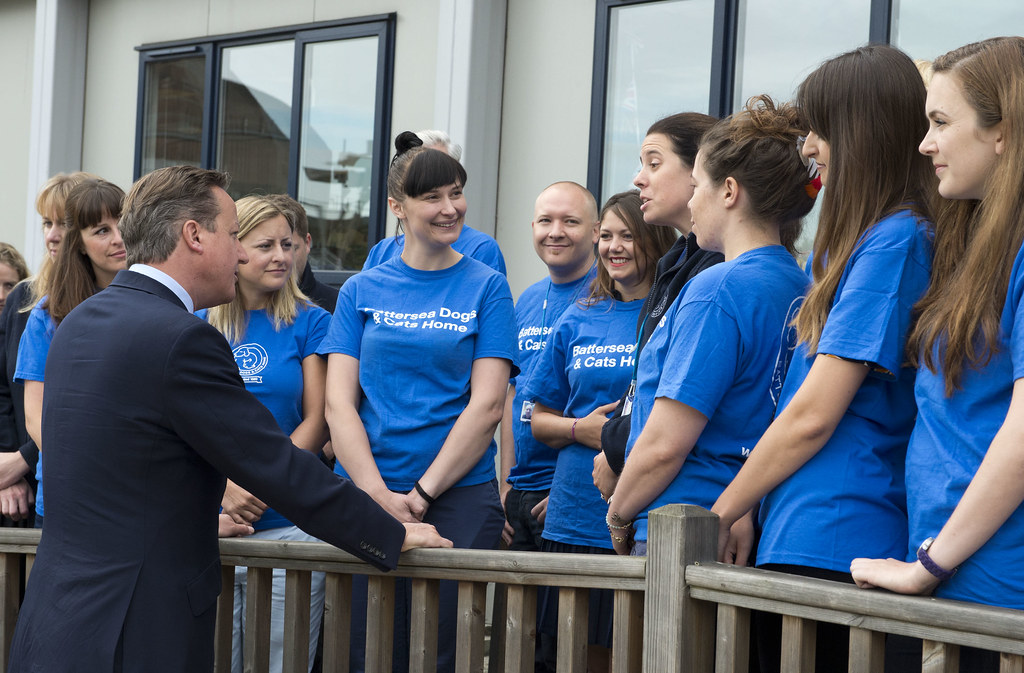 David Cameron visits Battersea Dogs & Cats Home