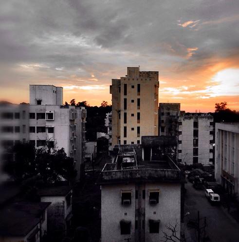 sunset sky india building silhouette landscape udit uploaded:by=flickrmobile flickriosapp:filter=nofilter agartalagovtmedicalcollege