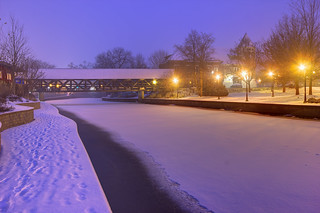 Naperville Riverwalk Snow Storm