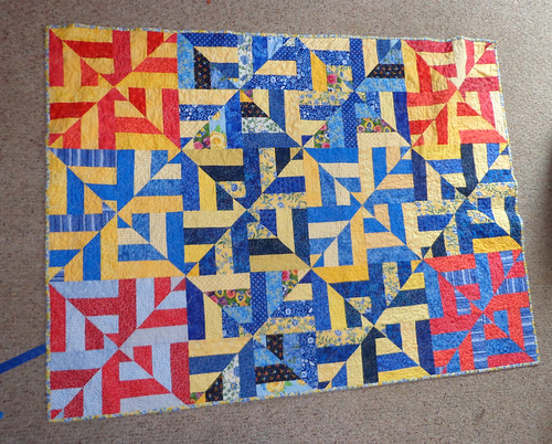 strip twist completed | by Scientific Quilter