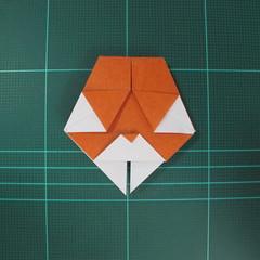 การพับกระดาษเป็นที่คั่นหนังสือหมีแว่น (Spectacled Bear Origami)  โดย Diego Quevedo 024