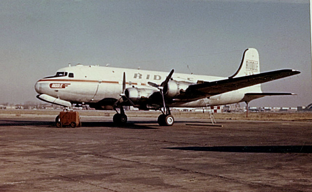 Chicago Midway Airport - Riddle Airlines - DC-4
