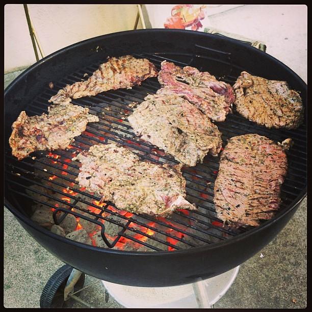 #kvpinmybelly : Carne asada for #SanJose #BBQ. NOM