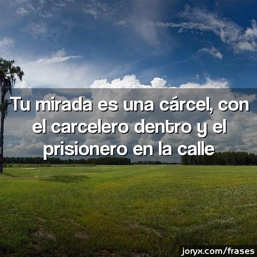 Tu Mirada Es Una Cárcel Con El Carcelero Dentro Y El Pris