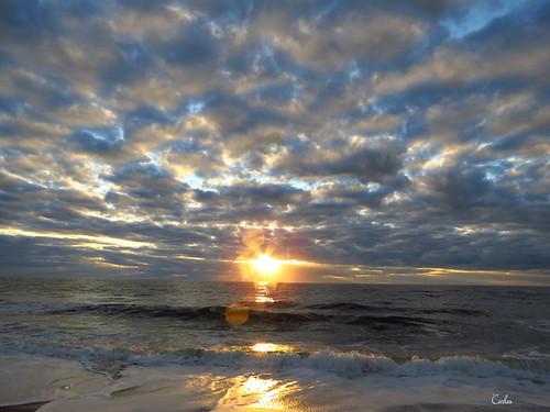 ocean sunset sea usa sun beach america sunrise outdoors myrtlebeach waves southcarolina