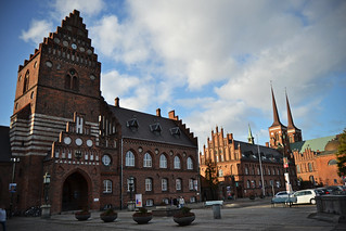 Roskilde centrum with the cathedral towers | by toma foto