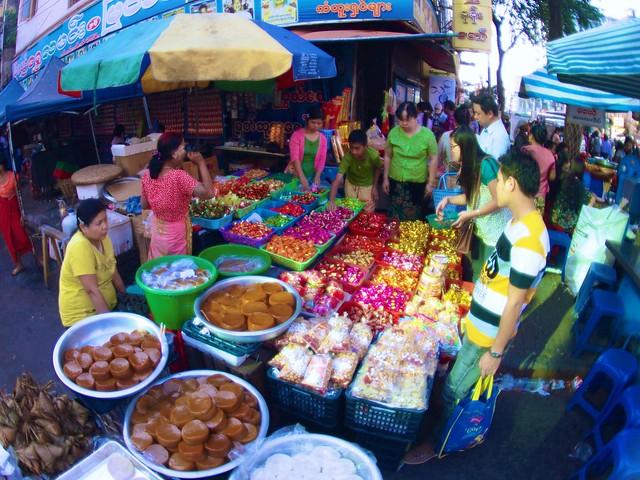 Street Sweets in Chinatown, Yangon