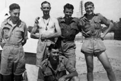 May 1942 - P. Parry, Jack, J. Jones & Hunter Sparks at EL KANTARA Camp (Egypt)