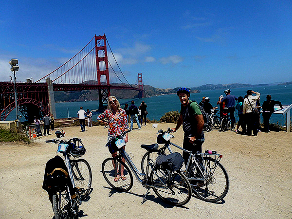 There are a number of awesome vantage points just before the bridge itself that provides great panoramic views of the Golden Gate Bridge itself