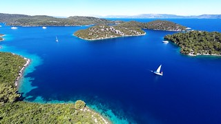 sailboat in bay Polace Mljet Croatia | by yachtrent