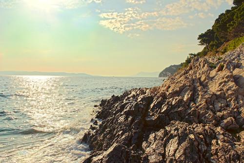 sea cliff nude landscape coast rocks pastel croatia geology hdr adriatic makarska nugal