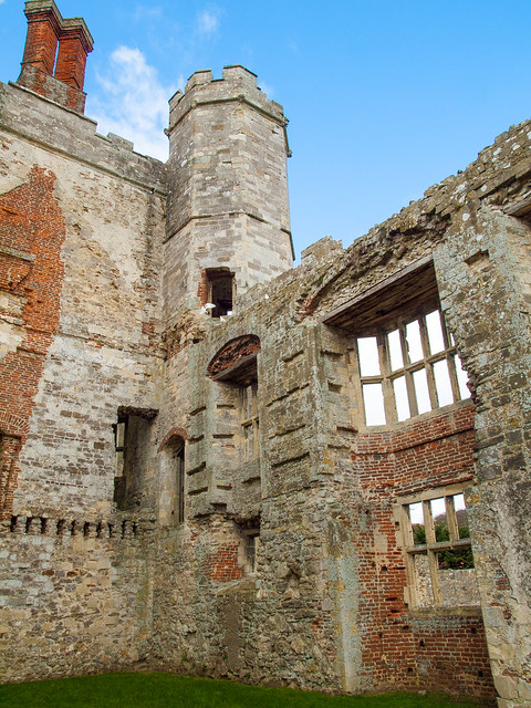 The ruins of 13th century Titchfield Abbey in Hampshire