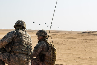 42nd CAB air drops 4th ID soldiers during training