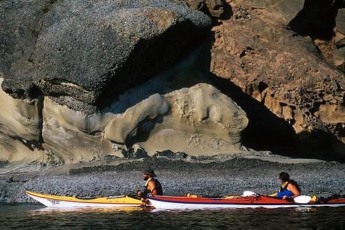Kayaking around Saturna Island, Southern Gulf Islands, British Columbia