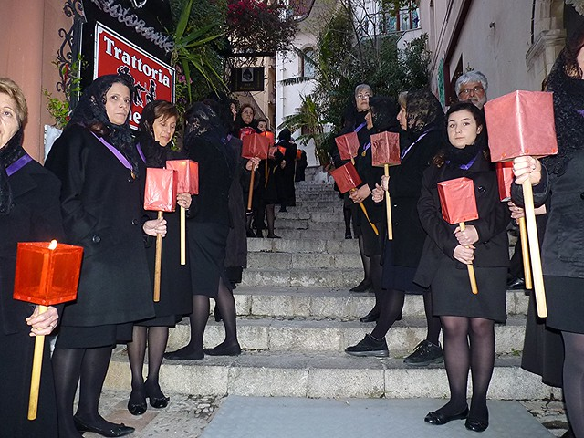 Taormina - La solenne processione del Venerdi Santo 2014