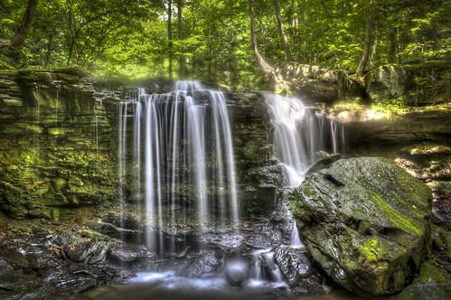 longexposure waterfall moss woods stream long exposure pennsylvania falls jackson pa apollo hdr jacksonfalls