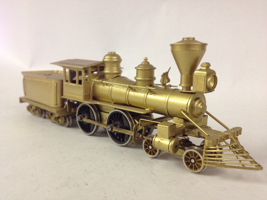 Various HO Scale Brass Locomotives and Equipment - 4-4-0 A