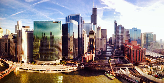 Looking south from Wolf Point - Chicago