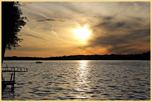 trees sunset summer sun lake nature water wisconsin clouds canon lakeside boating waterscene foxlake canoneos60d