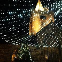 Town church lights