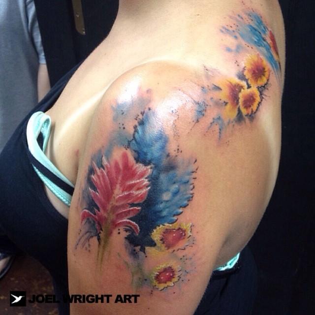 22bc03e4b2a8b ... Texas wild flowers #tattoo #watercolor #wildflowers   by wrightzen