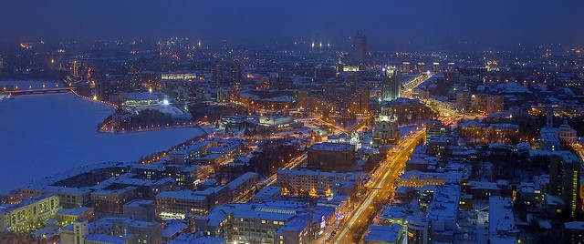 winter night in ekaterinburg