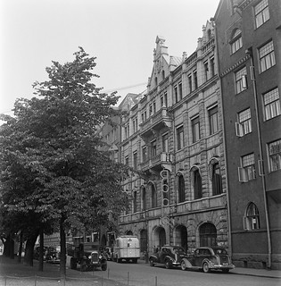The Radio House of the Finnish Broadcasting Company in Helsinki, street view, 1930s.