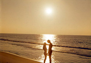 Couple on the beach at sunset: Fort Walton Beach, Florida
