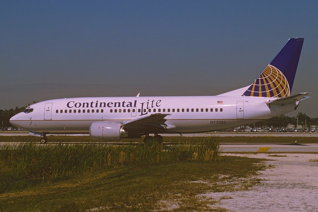 Continental Airlines Boeing 737-300; N73380, March 1995/ABE