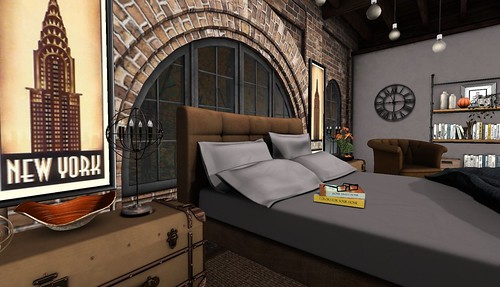 4 Seasons of Bedrooms: Autumn Glow (Fall) | by Hidden Gems in Second Life (Interior Designer)