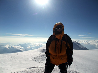 Me on the summit of West Peak, Elbrus (5642m), the highest point in Europe | by markhorrell