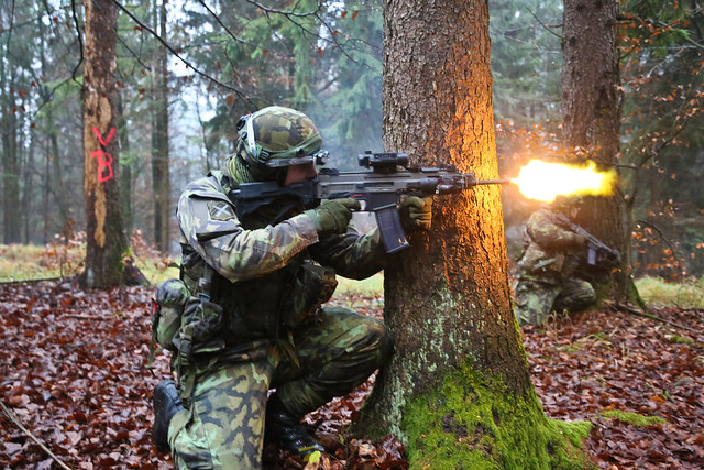 Czech Soldier engaging