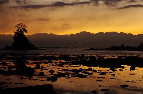 sunset night toyama k5 富山 amaharashi 雨晴 smcpentaxda★55mmf14sdm pwpartlycloudy